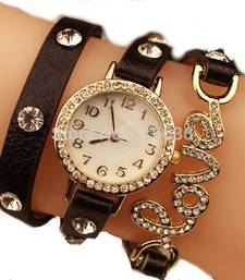 Buy Fency Bracelet Watch-Love Diamond (brown) gifts-for-girlfriend online