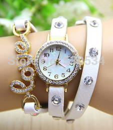 Buy Fency Bracelet Watch-Love Diamond (White) gifts-for-girlfriend online