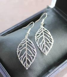 Buy silver leaf earring danglers-drop online