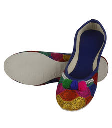 Buy multicolor Fabric and Leather footwear footwear online