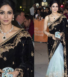 Buy Sridevi Half half bollywood saree party-wear-saree online