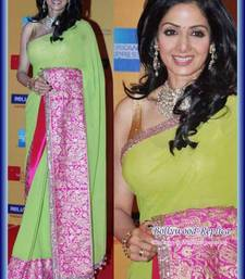 Buy Sridevi Bollywood Green Saree party-wear-saree online