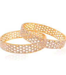 Buy Hi-fliers choice Gold plated american diamond bangle bangles-and-bracelet online