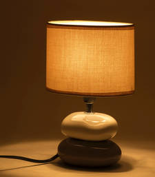 Buy Beige Ceramic Stone Style Base Table Lamp table-lamp online