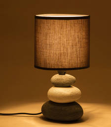 Buy Grey Ceramic Stone Style Base Table Lamp table-lamp online