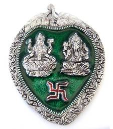 Buy Laxmi Ganesh Leaf Hanging/mt-208G wall-art online
