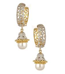 Buy Beautiful Ad pearl studded Hoop earrings danglers-drop online