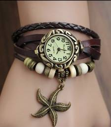Buy Chocolate Leather Charms Watch watch online