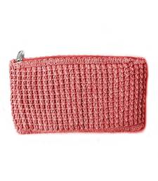 Buy Crochet Clutch in Peach gifts-for-mom online