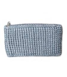 Buy Crochet Clutch in Grey gifts-for-mom online