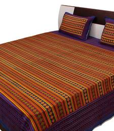 Buy Jaipuri Printed Geometric Pattern Double Bed Sheet bed-sheet online