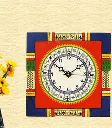 Buy Wooden Wall Clock - Warli wall-clock online