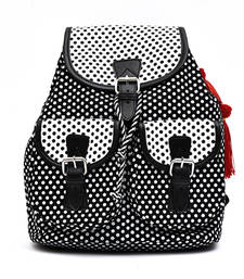 Buy Polka dot printed classy Canvas Back Pack backpack online