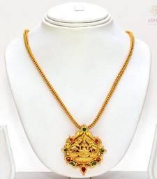 Buy Anvi's lakshmi (temple jewellery) pendent with chain Pendant online