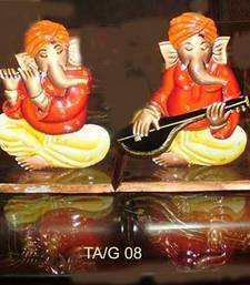 Buy Set of 4 Musical Ganesha wall-decal online