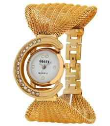 Buy GLORY GOLDEN FANCY JAAL LADIES WATCH gifts-for-girlfriend online