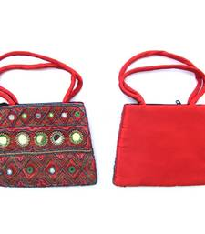Buy Red silk bag handbag online