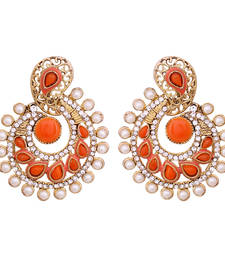 Buy orange antique gold danglers-drops danglers-drop online