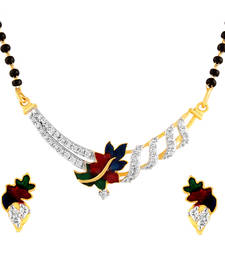 Buy Mangalsutra Pendant & Earrings Set With Chain mangalsutra online