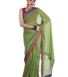 Buy Green Georgette Gujarati Wedding Saree georgette-saree online