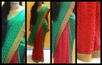 Polka love saree