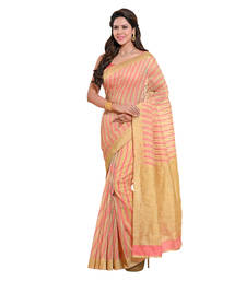 Buy Pink printed cotton saree with blouse cotton-saree online