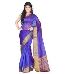 Buy Purple kota silk designer saree with blouse kota-silk-saree online