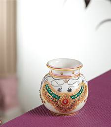 Buy Jeweled design Marble pot pot online