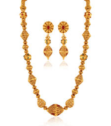 Buy Mesmerising Gold plated antique set necklace-set online
