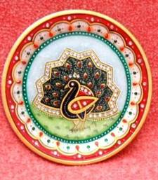MARBLE PEACOCKE PLATE shop online