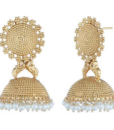 Buy Imitation Gold Plated Pearl Earrings Women Jewellery stud online