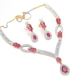 Buy Divinique Jewelry Ruby Ad necklace set necklace-set online