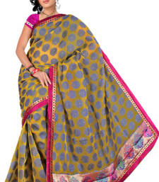 Buy Pavecha's  Chettinad Polka Embroidered Sari MK609 cotton-saree online
