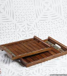 Buy Aesthetically pleasing handcrafted wooden trays  tray online
