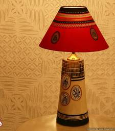 Buy An Elegant Hand painted Lampshade  in Terracotta table-lamp online