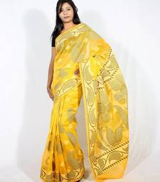 Buy Cotton Supernet Aanchal Border Saree cotton-saree online