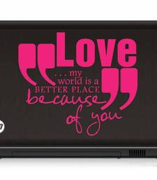 Buy Love quote laptop decal laptop-skin online