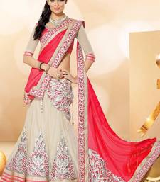 Buy red embrodered and patch work lehenga lehenga-below-1000 online