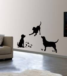 Buy Dogs at play wall-decal online