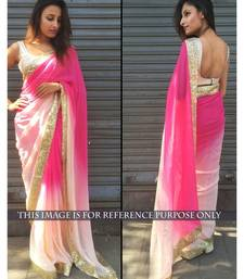 Buy Shaded Pink georgette designer saree bollywood-saree online