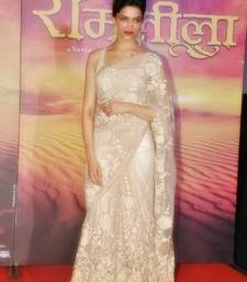 Buy Deepika in gorgeous cream saree at ramleela pramotion net-saree online