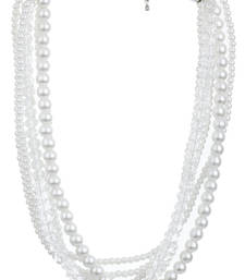 Buy BLISS Collection White Pearls Beaded Party Necklace For Women necklace-set online