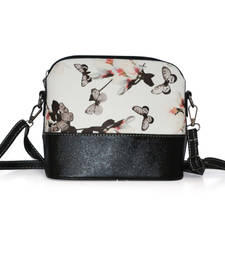 Buy White  and  black pu leather clutch_purses handbags handbag online