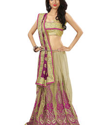 Buy magenta embroidered jacquard Saree heavy-work-saree online