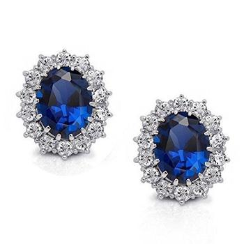 Amazoncom sapphire square earrings