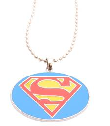Buy Mart Superhero Blue Chain & Pendant Neck piece For Men men-pendant online