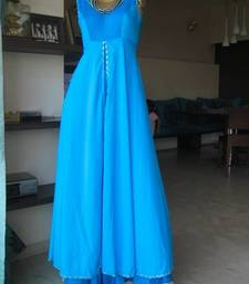 Buy Turquoise double layer dress dress online