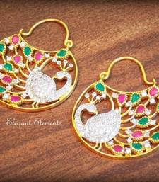 Buy Celebrity royal collection cz diamond earring dangler her076 men-kurta online