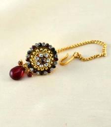 Buy micro gold platted borla maang-tikka online