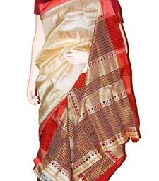 Pure Assam Tasar (Toss) Silk Mekhela Chador (Saree) shop online